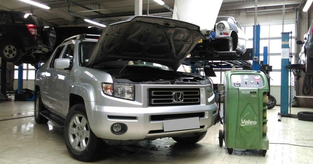 Honda Ridgeline - serwis klimatyzacji w Auto Ars