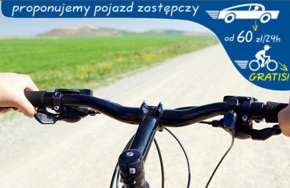 rowery zastępcze na czas naprawy