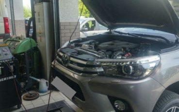 Toyota Hilux na serwisie klimatyzacji w Auto Ars