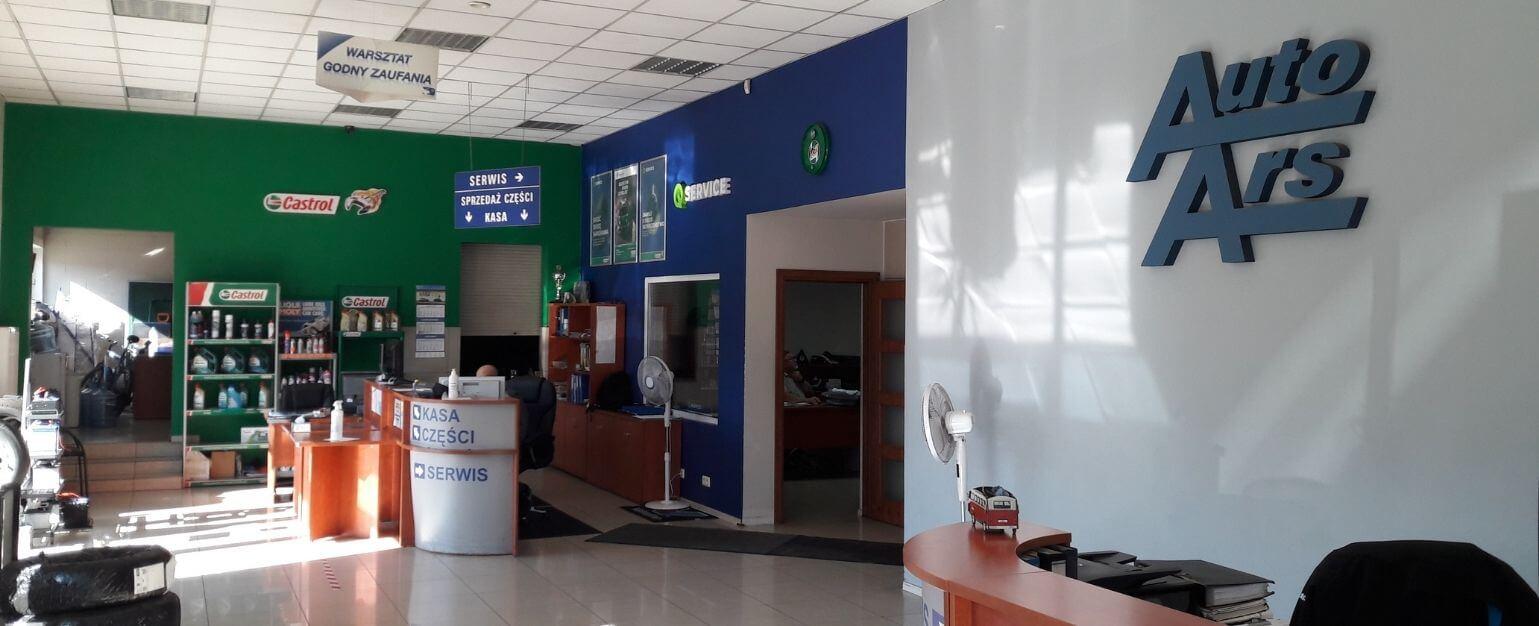 Biuro Obsługi Klienta w serwisie samochodowym Auto Ars w Szczecinie